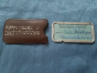 Vintage Charge Plate Boston Store  Credit, Charge Card Addressograph
