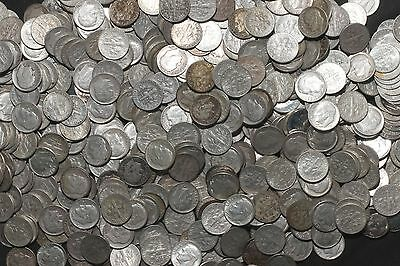 One Roll 90% Silver Roosevelt Dimes (50) 1946-1964   Lot D82