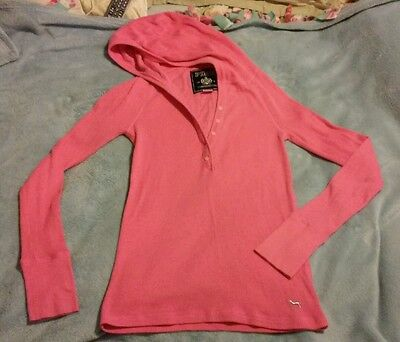 Victoria's Secret PINK Pink Thermal Long Sleeve Top Size Medium