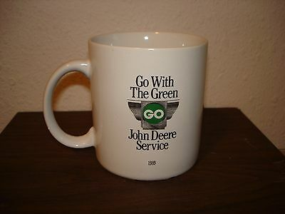 Vintage John Deere Go With The Green Service Coffee Cup Mug 1989