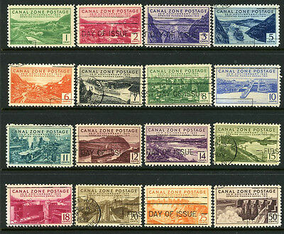 Canal Zone 120-135 Used 25th Anniversary Complete Set 1-4E14 12