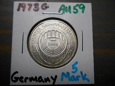 1973-G 5 Mark Germany  .625 silver - .2250 ASW