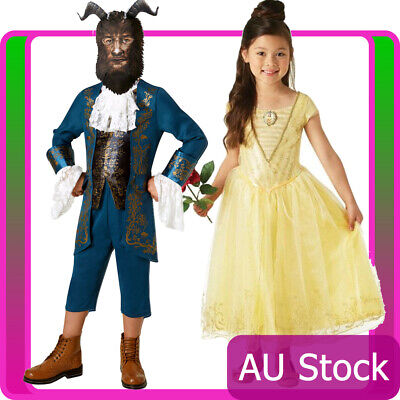 Belle Princess Disney Kids Childs Beauty And The Beast Dress Costume Mask