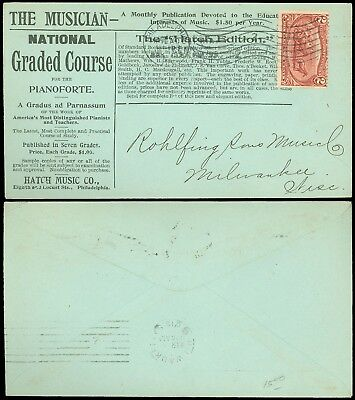1899 Philly, THE MUSICIAN, GRADED PIANOFORTE COURSE HATCH MUSIC CO Ad Cover #286