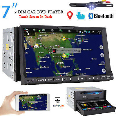 "HD Double Din 7""Car Stereo Radio DVD GPS Player TouchScreen Bluetooth Navigation"
