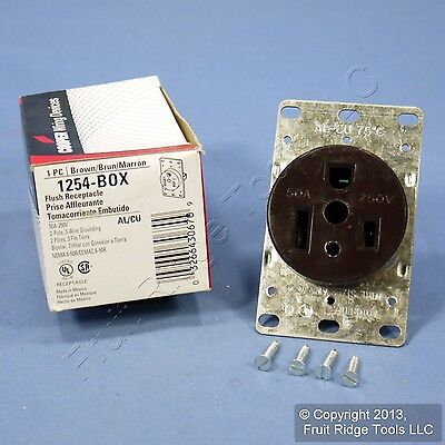 Cooper Receptacle Outlet Oven Welder Kiln Air Conditioner 6-50 50A 250V 1254-BOX
