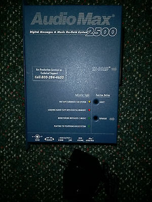 Audiomax 2500 Digital Messages Music On-Hold System