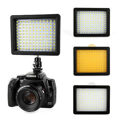 NEW WanSen W160 LED Video Light Camera Video Camcorder for Canon Nikon Sony SLR
