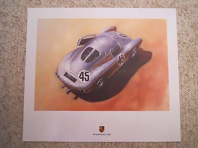 1953 Porsche 550 Light Metal Coupe Showroom Advertising Sales Poster RARE!! L@@K