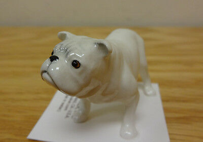 ➸ HAGEN RENAKER Dog Miniature Figurine Bulldog White