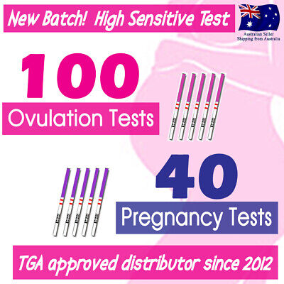 100x Ovulation Tests+40x Pregnancy Tests LH hCG Urine Strips Fertility OPK Kits