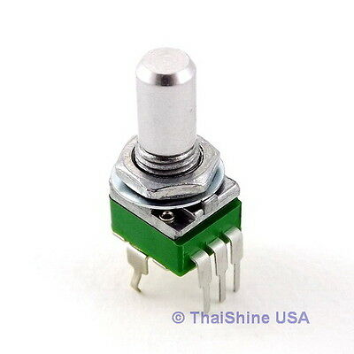 2 x 10K OHM Linear Taper Potentiometer Round Shaft PCB 9mm USA Seller Free Ship