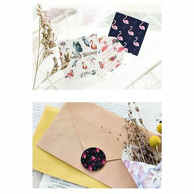 Flamingo And Cute Scrapbooking Lable Sticker Stationery Lifelog Stickers