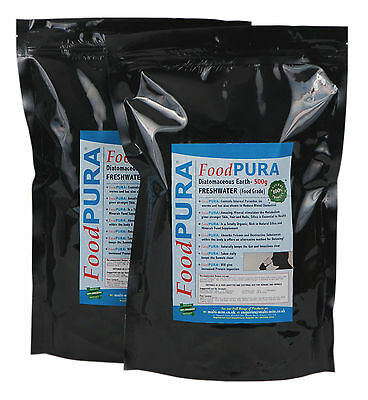 Food PURA® 1KG CODEX Human FOOD Grade Diatomaceous Earth PERU Freshwater DE