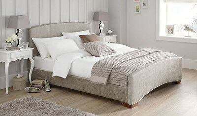 Crocodile Print Fabric Bed Frame in 2 Colours with a choice of foot colours