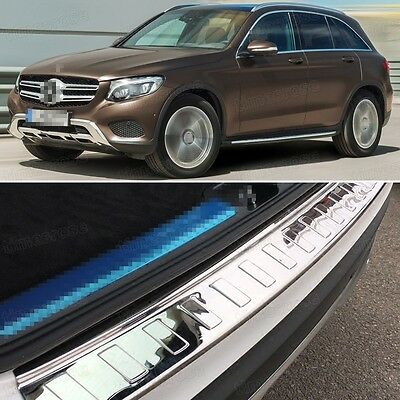 1 x Stainless steel Rear Bumper Protector Cover Trim for Mercedes Benz GLC 16-17