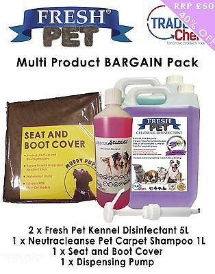 Kennel Cleaner - 2x5L Disinfectant/ 1x1L Neutracleanse/ 1xSeat Cover/ 1xPump