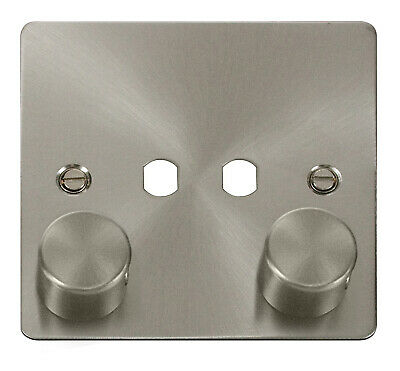 Define Flat 2 Gang Dimmer Plate & Knob Only