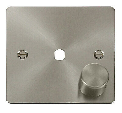 Define Flat 1 Gang Dimmer Plate & Knob Only