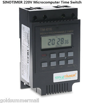 SINOTIMER 220V 30A Digital Microcomputer Time Switch with LCD Display