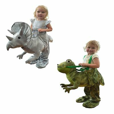 Dinosaur Fancy Dress Up Costume Outfit Kids Age 3-7 Years Green Or Grey New