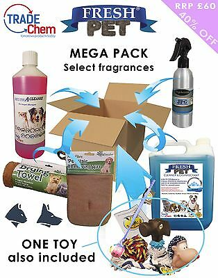 FRESH PET MEGA PACK Kennel Cleaning Products / Carpet Shampoo - 6 ITEMS TOTAL