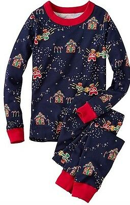 Hanna Andersson Long Johns 80 2T Pajamas Organic Cotton Pjs NEW Gingerbread