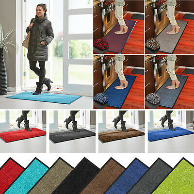 Heavy Duty Barrier Mat Non Slip Rubber Large Small Rugs Back Door Hall Kitchen