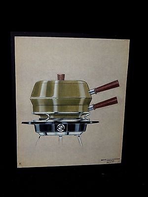 Rare Original Watercolor Monte Levin Patent Design of Cooking Utility Aug 1970
