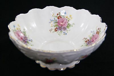 Vintage QUEENS ROSINA CHINA CO. LTD Floral Pedestal Bowl.