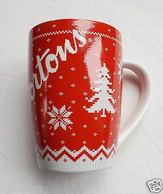 Tim Horton's Mug Red Sweater pattern Coffee Cup #15 Christmas New Ltd Edition