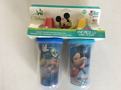 First Years Disney Mickey Mouse Insulated Sippy Cups 9 Oz 2 pack
