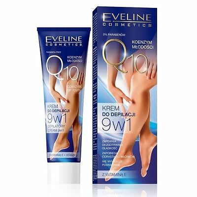 Eveline Depilatory Cream Hair Removal Q10 Coenzyme of Youth 9in1 sensitive 100ml