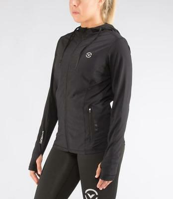 Women's Lightweight AirFlex Training Zip Jacket (Eco27) in Black/Silve