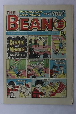 The Beano #2026 May 16th 1981 Vintage Comic Dennis The Menace