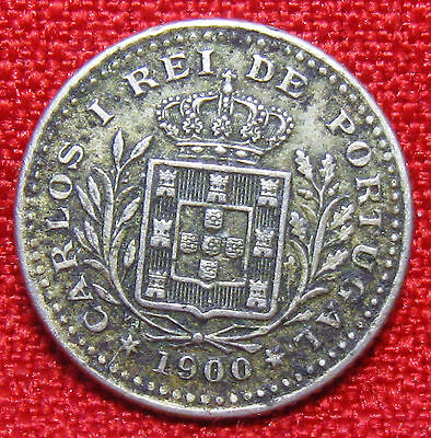 1900 Portugal 50 Reis Foreign Coin