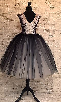 black grey tulle skirt net vintage bridesmaids wedding party prom blush layers