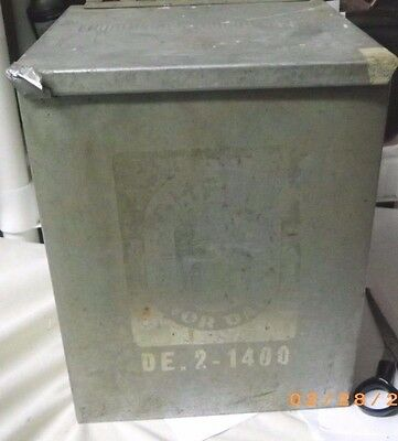 Vintage Thompson's Honor Insulated Galvanized Metal Dairy Milk Box Porch Cooler