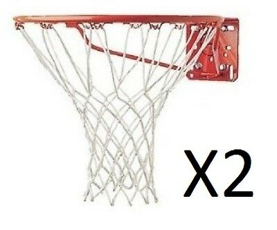 Champion 4mm White Economy 12 Inch Replacement Basketball Net 12 Loops (2-Pack)