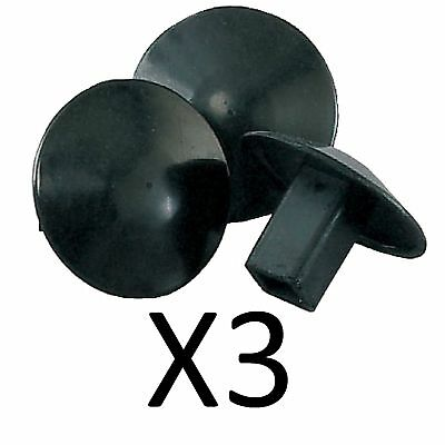 Champion Sports Molded Rubber Base Plugs For Baseball Softball Bases (3-Pack)