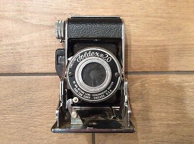 Vintage Folding Camera Pho-Tak Foldex 20 86mm Octvar Lens