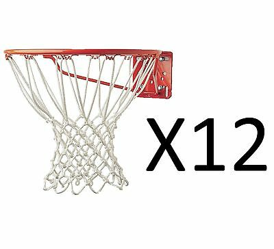 "Champion Sports Deluxe Official Sized Basketball Net 12 Loops 21"" (12-Pack)"