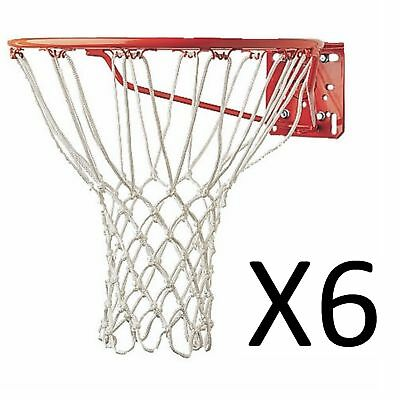 Champion Sports Basketball Net 5mm Non Whip Replacement Durable Rugged (6-Pack)