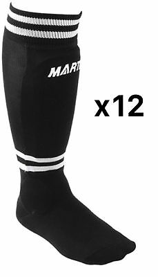 Martin Sports Youth Soccer Shinguards Sock Black Medium SOC6-BLK (12-Pack)