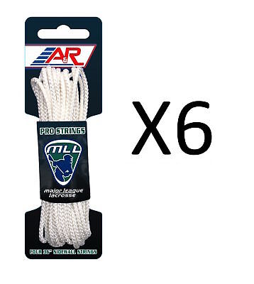 """A&R Sports Major League Lacrosse Four 36"""" Lightweight Sidewall String (6-Pack)"""