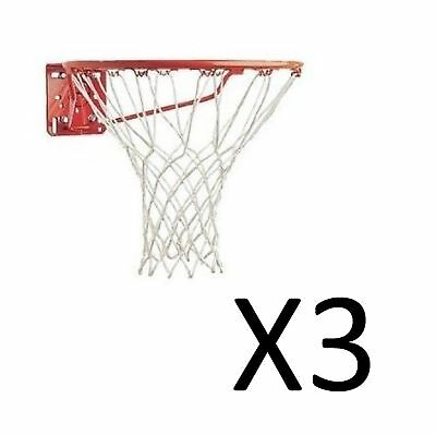 Champion Sports Replacement Basketball Net 4mm 12 Inch 12 Loops White (12-Pack)