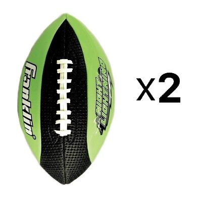Franklin Sports Glow In The Dark Night Lightning Junior Size Football (2-Pack)