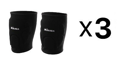 Mikasa Advanced Knee Pads For Volleyball & Basketball - Adult, Black (3-Pack)
