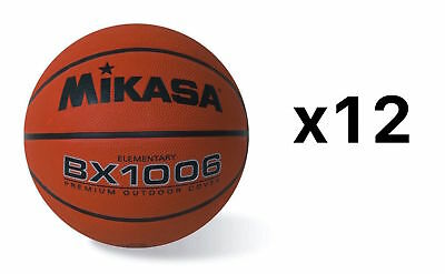 Mikasa Youth Basketball Ball Ultra Grip Rubber Cover Size 4 Elementary (12-Pack)