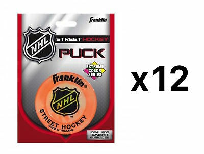 Franklin Sports NHL Extreme Color Street Hockey Puck Color May Vary (12-Pack)